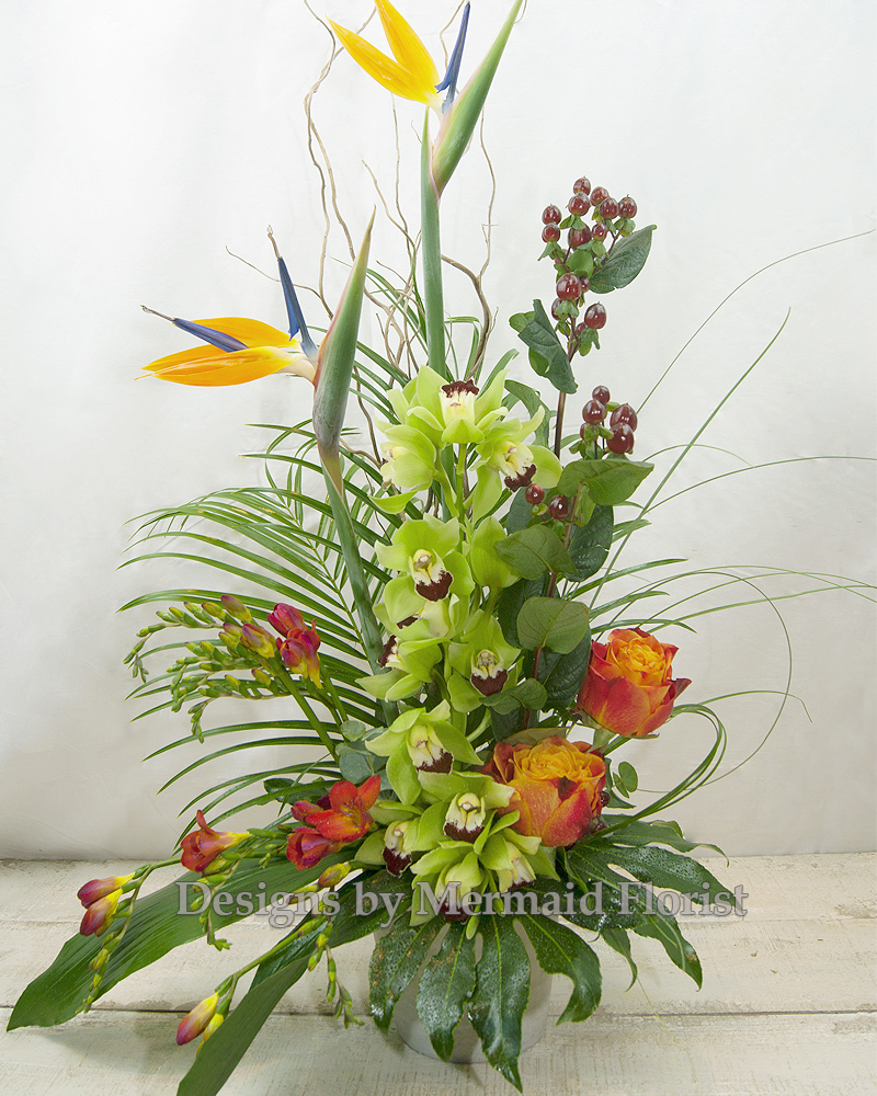 the delkey flower arrangement