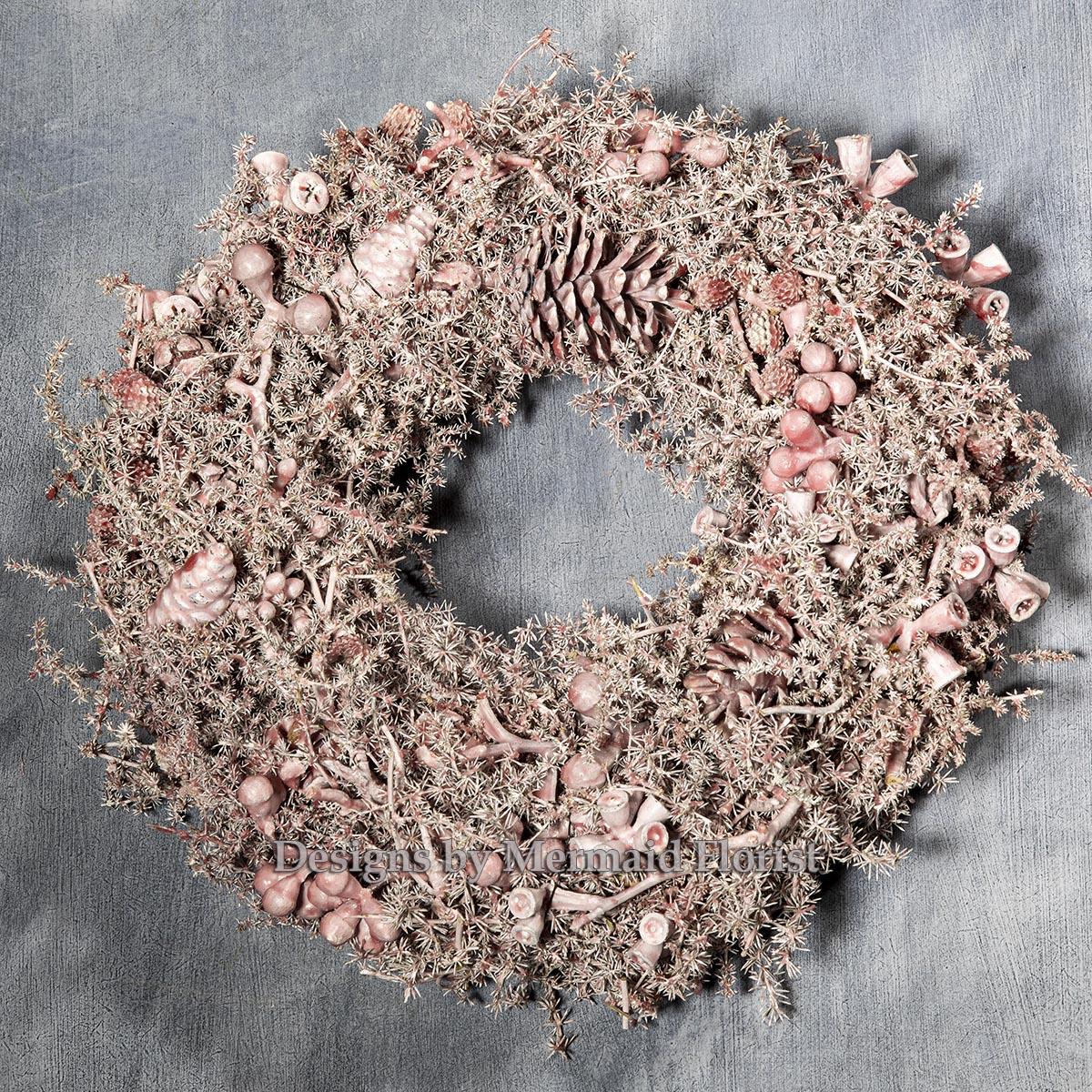 Fairytale Pink Christmas Wreath